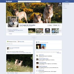 Page Facebook Les Loups du Gévaudan