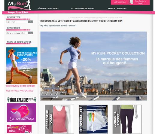 Page d'accueil My Run