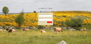écran de connexion du Relais de l'Aubrac